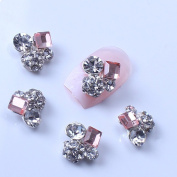 ECBASKET 10pcs 3D Mix Crystal Rhinestone Nail Art Decorations Alloy Nail Art Tips DIY Nail Art Decoration