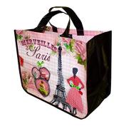 """French Shopping Bag """"Merveilles De Paris"""" 43cm X 34cm X 18cm"""