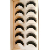 OVERMAL Women 6 Pair Handmade Natural False Eyelashes
