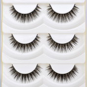 CCBeauty 5 Pairs Long Thick Cross False Eyelashes Eye Lashes Extension,#1