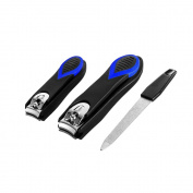 Gotofine Premium Quality Nail Clipper Set - Fingernail + Toenail With Antiskid Sleeve and Nail Catcher