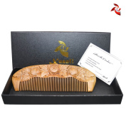 Xuanli® Wood Combs Natural Green Sandalwood Combs Top Quality Handmade Combs For Hair No Static