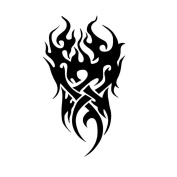 2 Sheets Waterproof Temporary Tattoos Sticker Removable Body Art Fake Tattoo Paper Scars Cover Flame
