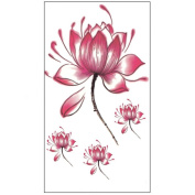 10 Sheets Waterproof Temporary Tattoos Sticker Removable Body Art Fake Tattoo Paper Scars Cover Lotus