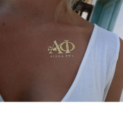 Fashiontats- Alpha Phi jewellery inspired temporary metallic tattoos