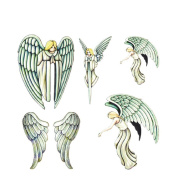 2 Sheets Waterproof Temporary Tattoos Sticker Removable Body Art Fake Tattoo Paper Scars Cover Angel