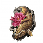 2 Sheets Waterproof Temporary Tattoos Sticker Removable Body Art Fake Tattoo Paper Scars Cover Carp