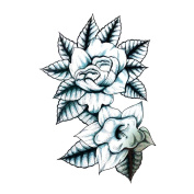 2 Sheets Waterproof Temporary Tattoos Sticker Removable Body Art Fake Tattoo Paper Scars Cover Lotus Totem