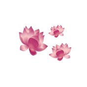 2 Sheets Waterproof Temporary Tattoos Sticker Removable Body Art Fake Tattoo Paper Scars Cover Red Lotus