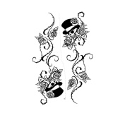 2 Sheets Waterproof Temporary Tattoos Sticker Removable Body Art Fake Tattoo Paper Scars Cover Skull