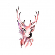 Waterproof Temporary Tattoos Sticker Removable Body Art Fake Tattoo Paper Scars Cover Deer