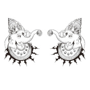 2 Sheets Waterproof Temporary Tattoos Sticker Removable Body Art Fake Tattoo Paper Scars Cover Elephant