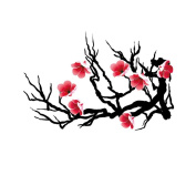 2 Sheets Waterproof Temporary Tattoos Sticker Removable Body Art Fake Tattoo Paper Scars Cover Plum Flower