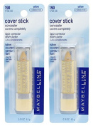 2 pcs MAYBELLINE Cover Stick Corrector/Concealer - Yellow 190