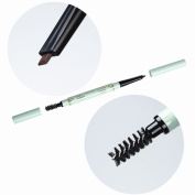 BTArtbox 1 Pcs Double-ended Waterproof Colour Stand Eyebrow Pencil Waterproof Automatic Brush Makeup Cosmetic Tool with brush and a fill-in,#Medium Brown-2#