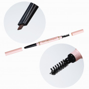 BTArtbox 1 Pcs Double-ended Waterproof Colour Stand Eyebrow Pencil Waterproof Automatic Brush Makeup Cosmetic Tool with brush,#Medium Brown-2#