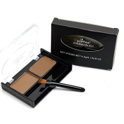 New Waterproof NO Blooming Eyebrow Kit Double Colour Eyebrow Powder with Brush