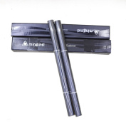 Mily Eyebrow Pencil 2Pcs Waterproof Automatic Women Eyebrow Pencil Eyeliner Power Brush Makeup Tool Black