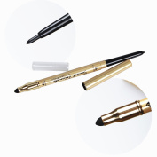 BTArtbox 1 Pcs Double Ended Waterproof Colour Stand Line Stiletto Ultimate Precision Liquid Eyeliner, Blackest Black