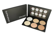 Sleek Makeup Contour Palette By Divine Cosmetics| Compact Travel Makeup Powder Kit For Highlighting/ Bronzing/ Concealing| 6 Colours| Fair, Light & Medium To Tan Foundation For Face, Neck & Eyes