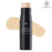 [CLEMATIS] High Coverage Fluffy Matte Stick Foundation with Micro Fibre Bursh SPF30 PA+++ 8g - 2 Colours