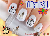 Jack Russell Terrier I Love - Dog Breed Nail Decals - WaterSlide Nail Art Decals - Highest Quality! Made in USA