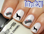 Chesapeake Bay Retriever #2 I Love Bone - Dog Breed Nail Decals - WaterSlide Nail Art Decals - Highest Quality! Made in USA