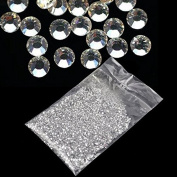 20000Pcs 1.5mm 3D Round Rhinestone Acrylic Nail Art Glitter Crystal Deco HOT