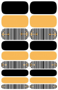 Wrap-em Nails Black And Gold Anchor Vinyl Nail Wraps