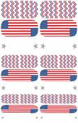 Wrap-em Nails Patriotic Flags Vinyl Nail Wraps