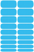 Wrap-em Nails Polka Dots - Blue Vinyl Nail Wraps