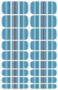 Wrap-em Nails Aztec Blue Vinyl Nail Wraps