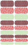 Wrap-em Nails Pink Leaves Collage Vinyl Nail Wraps