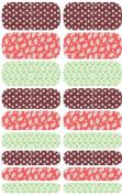 Wrap-em Nails Pink Leaves Collage Vinyl Nail Wraps