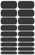 Wrap-em Nails Polka Dots - Black Vinyl Nail Wraps