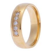 Gold Plated Rings for Women Cubic Zirconia Inlaid Rings Bands for Men