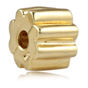 Artbeads Gold Plates Charm Beads Clip Lock Stopper Beads for European Style Bracelet Jewellery