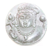 Clear silicone Amulet Pendant Moulds,the statue of Guanyin. Size 48x42mm.