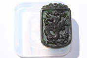 Clear silicone Amulet Pendant Moulds,the statue of dragon. Size 55x30mm.