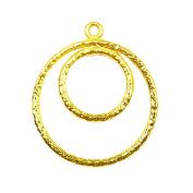 18K Gold Overlay Round Chandelier Earring Finding -FG-182