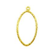 18K Gold Overlay Oval Chandelier Earring Finding -FG-185