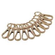 RDEXP Light Gold Zinc Alloy Swivel Snap Hook Clasp Clip for Bags Pack of 10