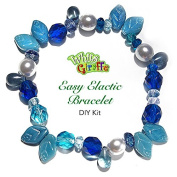 DIY Glass Bracelet Bead Kit Jewellery Making Kit Blue Shades