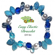 DIY Glass Bracelet Bead Kit Jewellery Making Kit Blue Shades