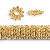 11mm 22kt Gold plated Daisy Spacer Beads 8 inch 100 pieces