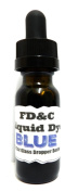 30ml FDC GLASS Bottle of Blue Candle Dye- Dropper Bottle with Childproof Cap.