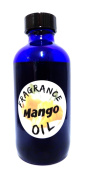 Mango Fragrance Oil, 120ml BLUE GLASS Bottle of Premium Skin Safe Oil, Candles, Lotions Soap & More