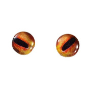 8mm Orange Octopus Glass Eyes Nautical Doll Irises for Art Polymer Clay Taxidermy Sculptures or Jewellery Making Set of 2