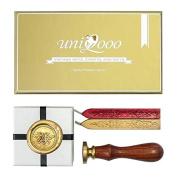 UNIQOOO Arts & Crafts Little Bees Wax Seal Stamp Gift Set