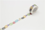 mt Washi Masking Tape deco tape with printed colourful seal design